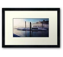 -Open Water - Brandy Pond Framed Print