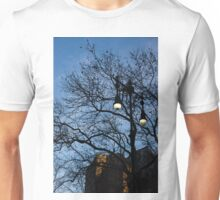 Glimpses of New York City - Skyscrapers Through the Tree Branches Unisex T-Shirt