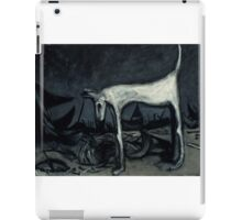 the old blind guard dog..90cmx70cm iPad Case/Skin