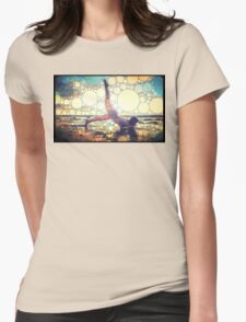 Yoga art 8 Womens Fitted T-Shirt