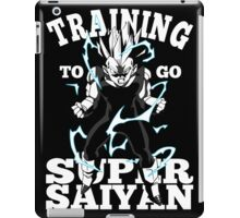 Training To Go Super Saiyan Vegeta DBZ iPad Case/Skin
