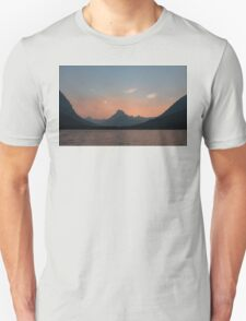 Sunset Over Mt. Wilbur And Swiftcurrent Lake Unisex T-Shirt