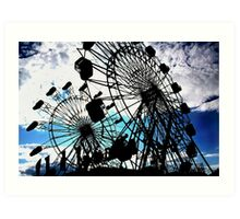 Double Ferris Wheels Yarmouth Clam Festival Art Print