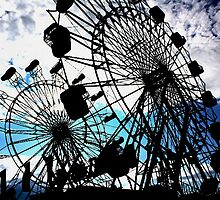 Double Ferris Wheels Yarmouth Clam Festival by moosewinks