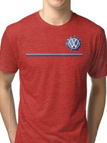 VW Classic Swirl and lines  Tri-blend T-Shirt
