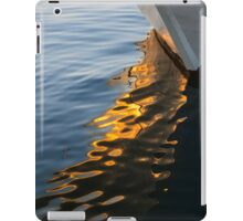 Reflecting on Yachts and Sunsets iPad Case/Skin