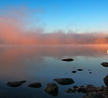 A Pink Mist Rising At Dawn - Crystal Lake by T.J. Martin