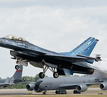 Belgian F-16A Take Off by Cliff Williams