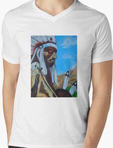 Indian Chief Mens V-Neck T-Shirt