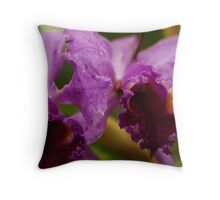 """Two Precious"" - Conservatory Orchids Throw Pillow"