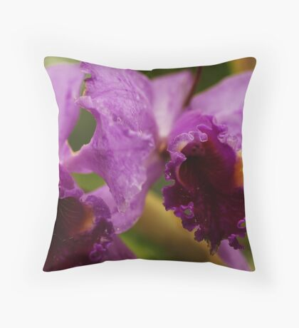 """""""Two Precious"""" - Conservatory Orchids Throw Pillow"""