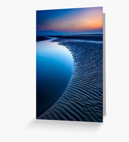 Blue Beach Greeting Card