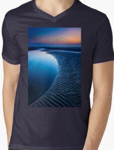 Blue Beach Mens V-Neck T-Shirt