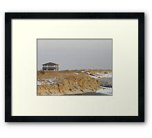 Winter Dunes Framed Print