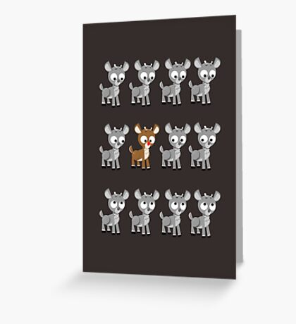 LOOK! It's Rudolph! v2 Greeting Card