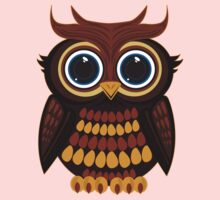 Friendly Owl - Yellow Kids Clothes