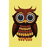Friendly Owl - Yellow Photographic Print