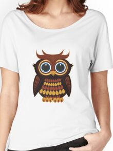 Friendly Owl - Grey Women's Relaxed Fit T-Shirt