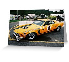 1970 Trans-Am Boss 302 Mustang Greeting Card