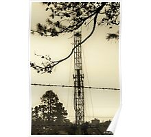 Texas Tea - Oil Derrick - Panola County, Texas Poster