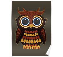 Friendly Owl - Army Poster