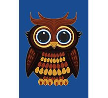 Friendly Owl - Blue Photographic Print