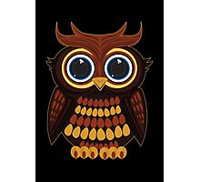 Friendly Owl - Black Photographic Print