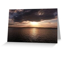 Sunset Buff Point NSW Central Coast  Greeting Card