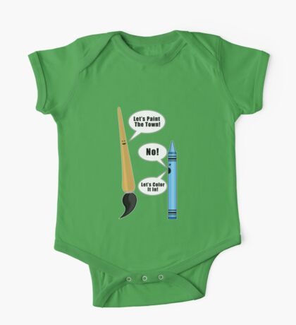 Lets Paint The Town! - Green One Piece - Short Sleeve