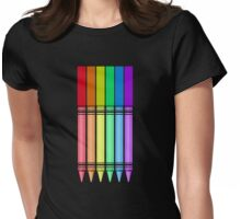 Rainbow Crayon 2 Womens Fitted T-Shirt