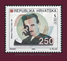 Tesla Stamp (Croatia) T-Shirt