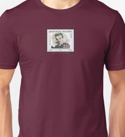 Tesla Stamp (Croatia) Unisex T-Shirt