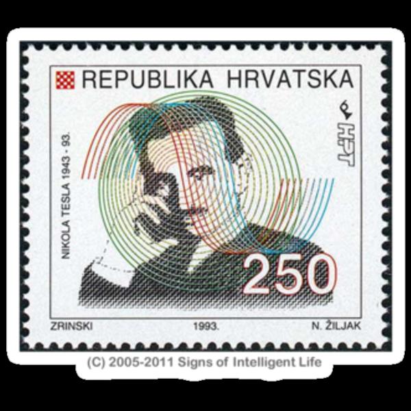 Tesla Stamp (Croatia) by SOIL