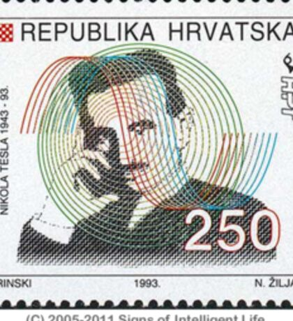 Tesla Stamp (Croatia) Sticker