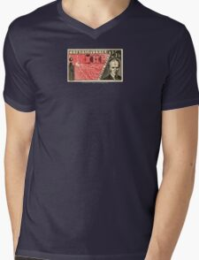 Tesla Stamp (Czechoslovakia) Mens V-Neck T-Shirt