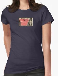 Tesla Stamp (Czechoslovakia) Womens Fitted T-Shirt