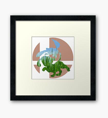 Sm4sh - Duck Hunt Framed Print