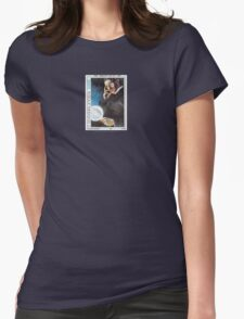 Tesla Stamp (Yugoslavia) Womens Fitted T-Shirt