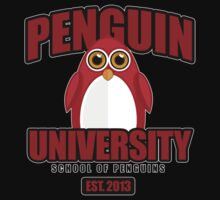 Penguin University - Red 2 One Piece - Short Sleeve