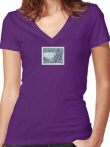 Tesla Stamp (Yugoslavia) II Women's Fitted V-Neck T-Shirt