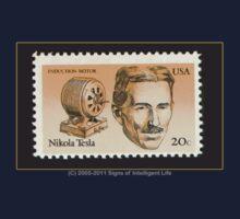 Tesla Stamp (United States) Kids Tee