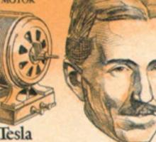 Tesla Stamp (United States) Sticker