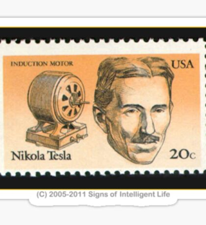 Tesla Stamp (United States) Sticker