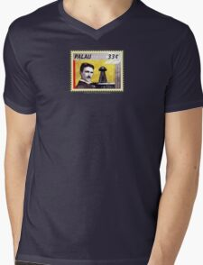 Tesla Stamp (Palau) Mens V-Neck T-Shirt