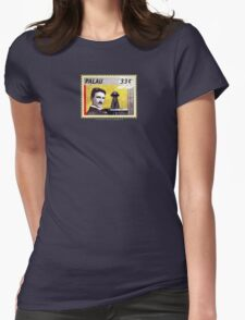 Tesla Stamp (Palau) Womens Fitted T-Shirt