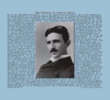 The Patents of Nikola Tesla Kids Tee