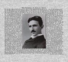 The Patents of Nikola Tesla One Piece - Long Sleeve