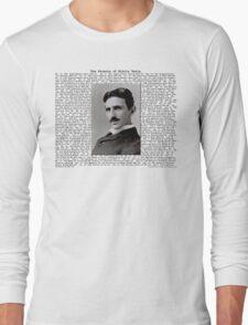The Patents of Nikola Tesla Long Sleeve T-Shirt