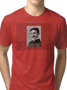 The Patents of Nikola Tesla Tri-blend T-Shirt