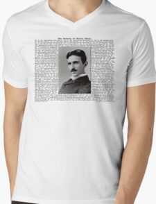 The Patents of Nikola Tesla Mens V-Neck T-Shirt